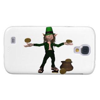Leprechaun irlandês com moedas e um pote de ouro galaxy s4 covers