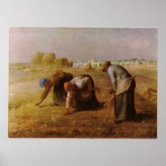 Les Glaneuses 1857 pelo painço de Jean-Francois Poster
