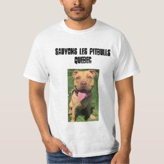 Les Pitbulls Quebeque de Sauvons Tshirts