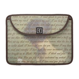 Letra da persuasão bolsas MacBook pro
