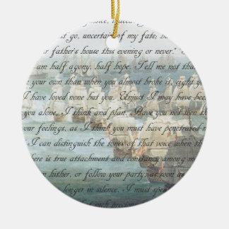 Letra da persuasão ornamento de cerâmica redondo