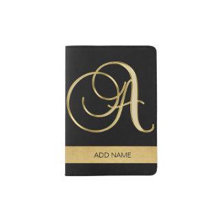 Letra executiva elegante elegante A do monograma Capa Para Passaporte