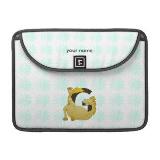 Letra G do monograma do pônei personalizada Capa Para MacBook
