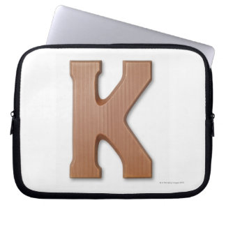Letra k do chocolate capas para computadores