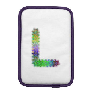 Letra L monograma do Fractal Luvas iPad Mini