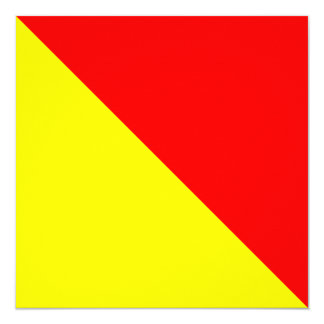 Letra náutica O de Oscar do sinal da bandeira Convite Quadrado 13.35 X 13.35cm
