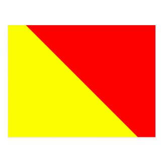 Letra náutica O do sinal da bandeira do alfabeto Cartão Postal