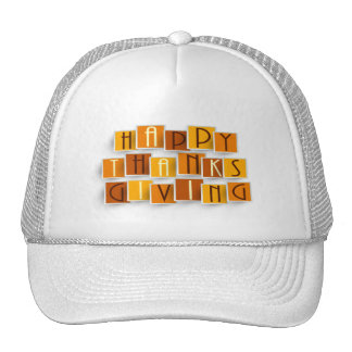 Letra obstruída do chapéu da acção de graças do boné