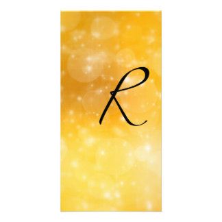 Letra R Cartão Com Fotos Personalizado