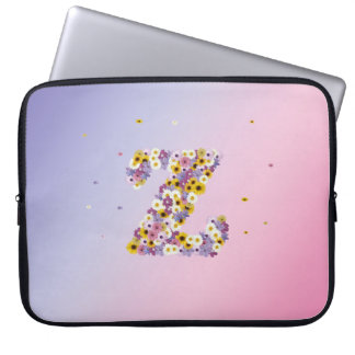 Letra z da flor bolsas e capas para computadores