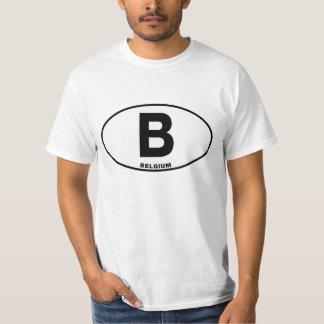 Letras internacionais ovais da identidade de tshirt