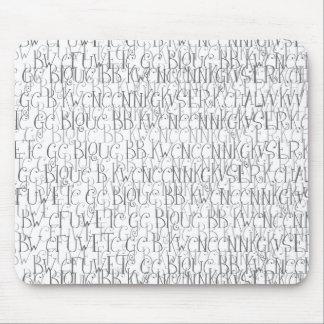 Letras Mousepad das letras (paisagem)