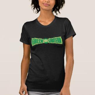 Letras verdes 1 da lanterna camisetas
