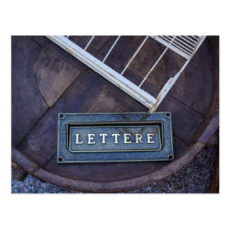 Lettere (letras) cartão postal