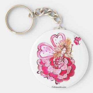 Leva chave fada do coração borboleta Colineandco Chaveiro
