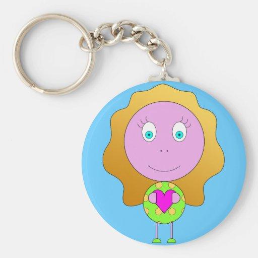 leva chaves rapariga coração verde recortar chiara chaveiros