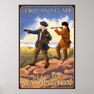 Lewis e Clark - Nez Perce, Washington Pôster