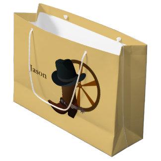 LGB do design da bota de vaqueiro Sacola Para Presentes Grande