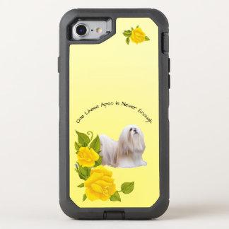 Lhasa Apso, com rosas amarelos Capa Para iPhone 7 OtterBox Defender
