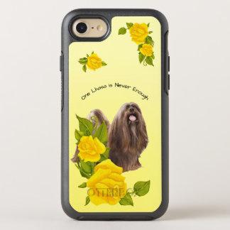 Lhasa Apso, com rosas amarelos Capa Para iPhone 8/7 OtterBox Symmetry