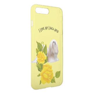 Lhasa Apso e rosas amarelos Capa iPhone 8 Plus/7 Plus