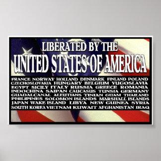 """""""Liberado por América """" Impressão"""