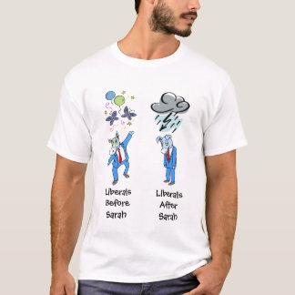 Liberais antes e depois do t-shirt de Sarah Palin