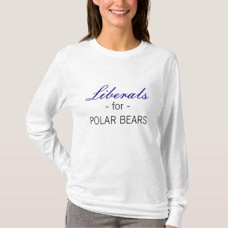 Liberais para ursos polares t-shirt