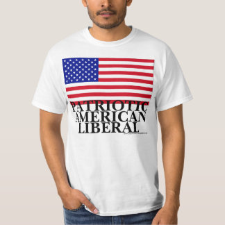 Liberal americano patriótico t-shirt