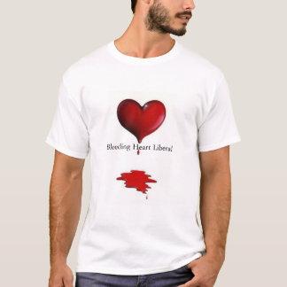 Liberal do coração de sangramento tshirt