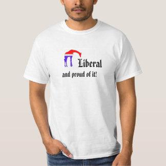 Liberal e orgulhoso dele camiseta