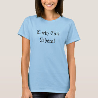 Liberal encaracolado da menina camisetas