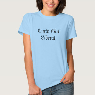 Liberal encaracolado da menina tshirt