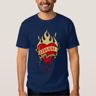 Liberal, nascer para levantar edições! t-shirt