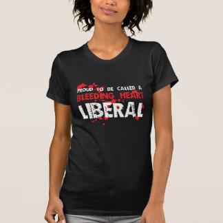 Liberal orgulhoso do coração de sangramento camiseta