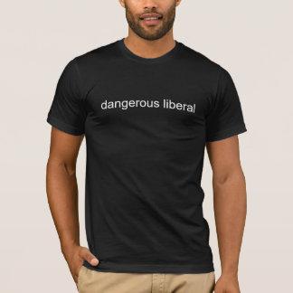 liberal perigoso camisetas