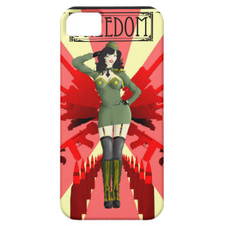 Liberdade americana do Pinup Capa Para iPhone 5
