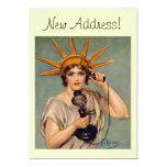 Liberdade do vintage que chama o cartão Home novo Convite 12.7 X 17.78cm