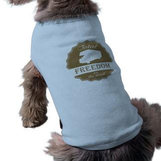 Liberdade total na classe retro C rv da estrada Camisa Sem Mangas Para Cachorro