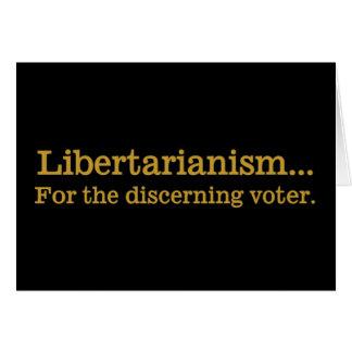 Libertarianismo, a escolha do eleitor de distinção cartão comemorativo