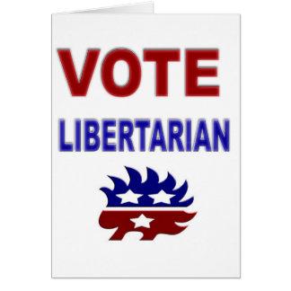 Libertário do voto cartão comemorativo