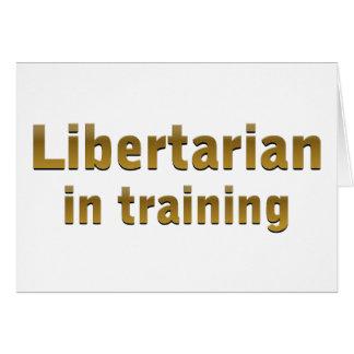 Libertário no treinamento cartão comemorativo