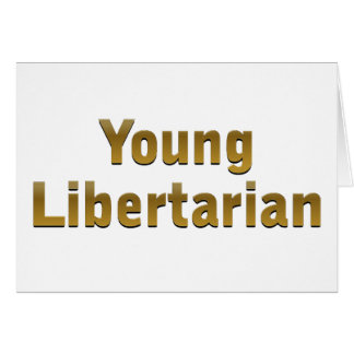 Libertário novo cartão comemorativo