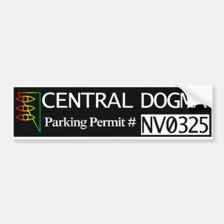 Licença central do estacionamento do dogma adesivo para carro