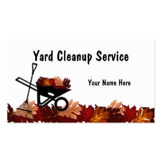 Licença de outono da limpeza que ajunta o cartão d cartão de visita
