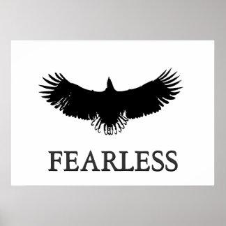 Líder sem medo inspirador que aterra o poster de E