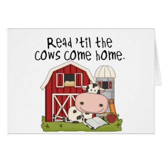 Lido 'até as vacas venha em casa cartao