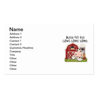 Lido 'até as vacas venha em casa cartão de visita