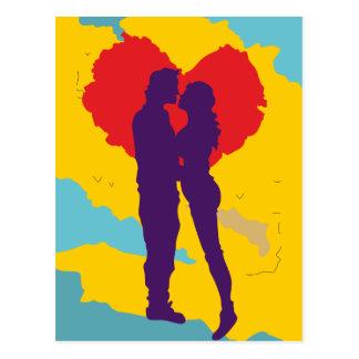 Liebespaar ama love couple cartão postal