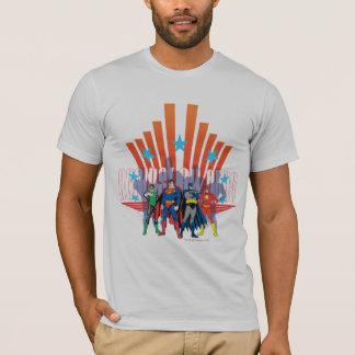 "Liga de justiça ""contra todas as probabilidades "" camiseta"